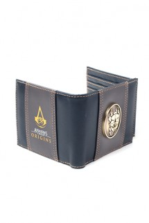 Assassin's Creed Origins - Zip Around Wallet with Metal Scarab Logo