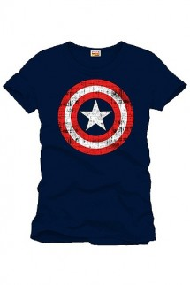 Capitan America - Camiseta Shield Logo navy