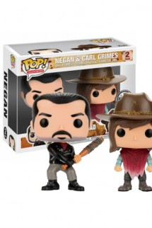 Pop! TV: The Walking Dead - Negan & Carl Grimes Pack Exclusivo