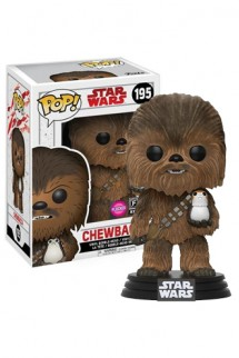 Pop! Star Wars: The last Jedi - Chewbacca y Porg Flocked Exclusiva