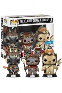 Pop! Star Wars - Teebo, Chirpa, Logray Exclusivo