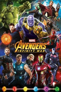 Vengadores Infinity War - Póster Characters