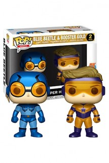 Pop! DC: Blue Beetle & Booster Gold Metallic 2-Pack