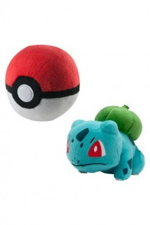 Pokemon - Peluche Bulbasaur con Poke Ball