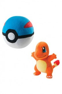 Pokemon - Peluche Charmander con Great Ball