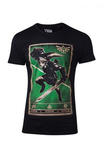 Zelda - Propaganda Link Triforce Men´s T-shirt