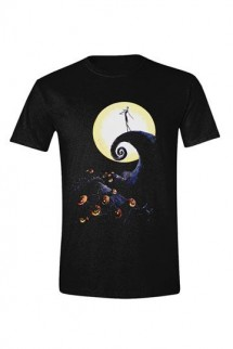 Nightmare Before Christmas - T-Shirt Cemetery Moon