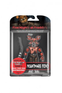Five Nights at Freddy's Articulated Nightmare Foxy Action Figure, 5""