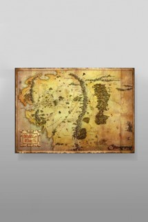 The Hobbit - Map Poster