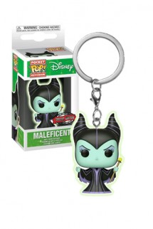 Pop! Keychain Disney: Maleficent Glow Exclusivo