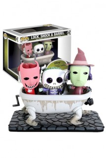 Pop! Movie Moment: Pesadilla Antes de Navidad - Lock, Shock & Barrel Exclusive