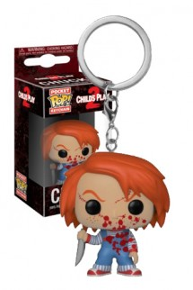 Pop! Keychain: Horror - Chucky Bloody Exclusivo