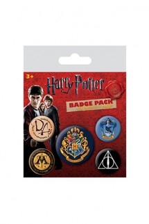 Harry Potter - Pack 5 Chapas Hogwarts