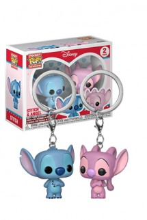 Funko Keychain: Disney - Stitch & Angel Pack