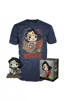 Camiseta Pop! Tees Set de Minifigura y Camiseta Wonder Woman Exclusivo By Jim Lee