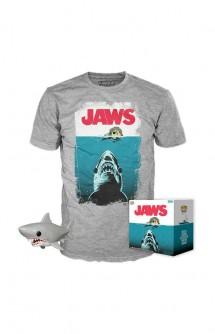 Camiseta Pop! Tees Set de Minifigura y Camiseta  Night Swin (Jaws) Exclusivo