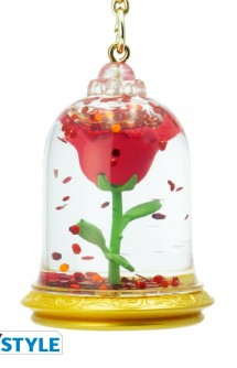 "Keychain 3D ""Beauty and the Beast/Rose"""