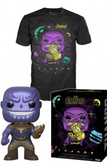 Camiseta Pop! Tees Set de Minifigura y Camiseta Thanos (Infinity War)
