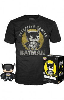 DC Comics POP! & Tee Box Batman Sun Faded