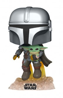 Pop! Star Wars: The Mandalorian - Mando Flying w/Jet Pack