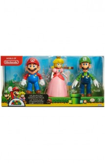Nintendo - Mario, Peach and Luigi Figures Pack