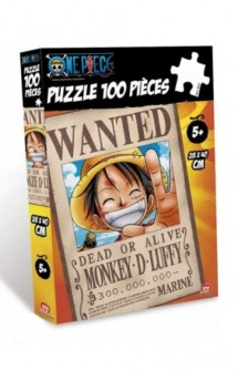 One Piece - Puzzle Wanted Luffy (100 piezas)