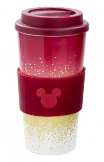 Disney: Mickey -Lidded Mug Berry Glitter