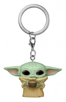 Pop! Keychain: Star Wars: The Mandalorian - The Child w/ Cup