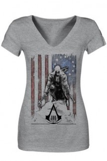 "Camiseta - Assassin´s Creed III - Connor ""Bandera"" CHICA"