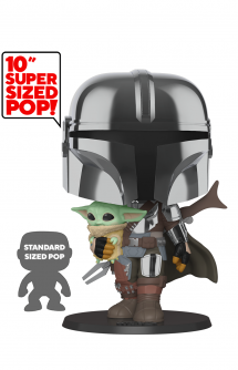 "POP! Star Wars: Mandalorian - 10"" Mandalorian w/ the Child"