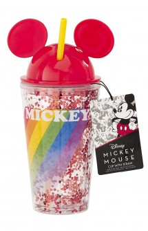 Mickey Rainbow: Cup With Straw